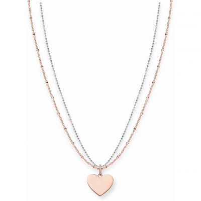 Damen Thomas Sabo Love Bridge Heart Halskette Sterling-Silber LBKE0004-415-12-L45V