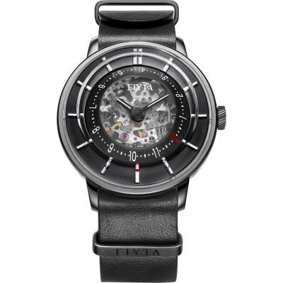 FIYTA 3D Time Skeleton Herrenuhr in Schwarz WGA868000.BBB