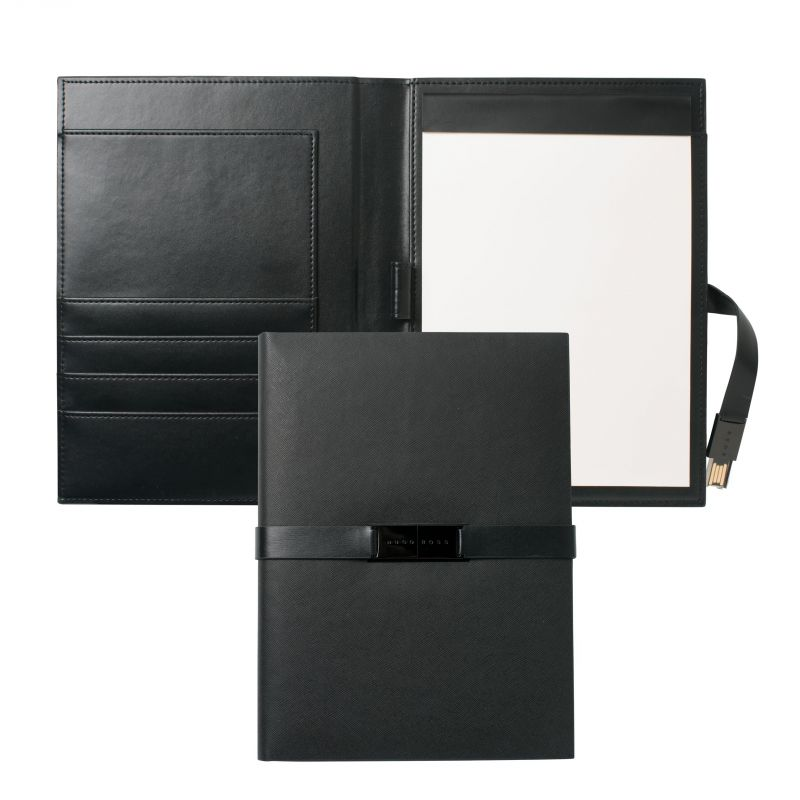 N/A Hugo Boss Pens Base metal Binder A5 Folder With USB