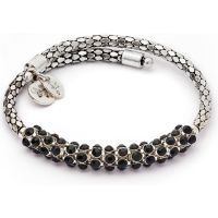 Ladies Chrysalis Stainless Steel Bohemia Spontaneity Black Crystal Wrap Bangle CRWB0001SP-D