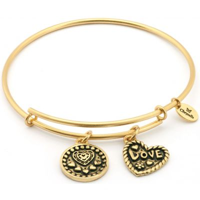 Ladies Chrysalis Gold Plated Thinking Of You Love Expandable Bangle CRBT0718GP