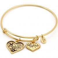 Ladies Chrysalis Gold Plated Thinking Of You Mother Daughter Expandable Bangle CRBT0721GP