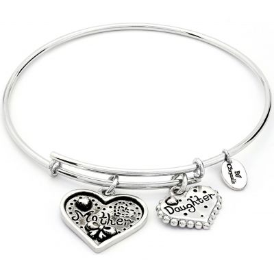 Bijoux Femme Chrysalis Thinking Of You Mother Daughter Expandable Bracelet CRBT0721SP