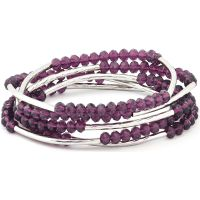Ladies Chrysalis Silver Plated Nomad Purple Indivduality Elasticated Necklace/Bracelet Wrap CRWF0001SP-F