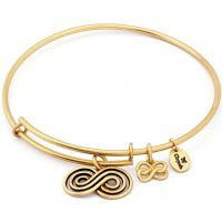 Ladies Chrysalis Gold Plated Spirited Infinity Expandable Bangle CRBT1205GP