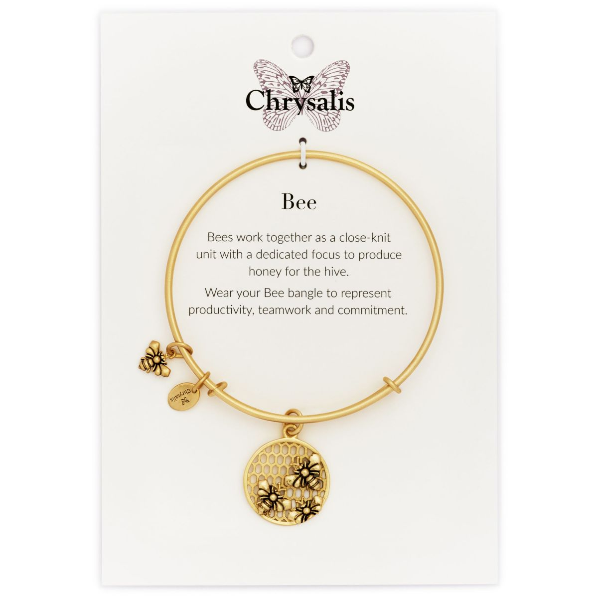 Chrysalis Spirited Bee Gold Plated Bangle CRBT1206GP wUP1XLbj