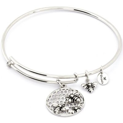 Ladies Chrysalis Silver Plated Spirited Bee Expandable Bangle CRBT1206SP