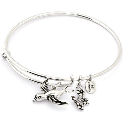 Ladies Chrysalis Silver Plated Spirited Sparrow Expandable Bangle CRBT1210SP