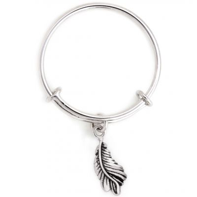 Ladies Chrysalis Silver Plated Spirited Feathers Expandable Ring CRRT0009SP