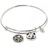 Ladies Chrysalis Silver Plated Friend & Family I Love Cat Expandable Bangle CRBT0712SP