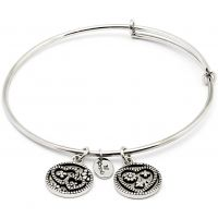 Ladies Chrysalis Silver Plated Love Serentiy Love Expandable Bangle CRBT0304SP