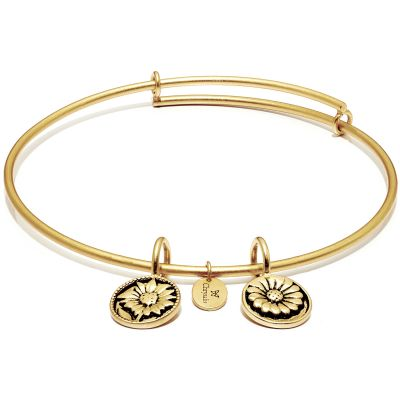Ladies Chrysalis Gold Plated Life Believe Expandable Bangle CRBT0003GP