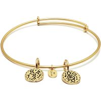 Ladies Chrysalis Gold Plated Happiness Life Festival Expandable Bangle CRBT0005GP