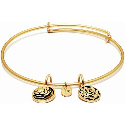 Ladies Chrysalis Gold Plated Love Life Roses Expandable Bangle CRBT0012GP