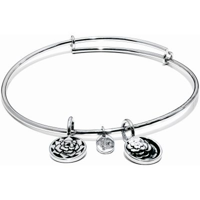 Ladies Chrysalis Silver Plated Love Life Roses Expandable Bangle CRBT0012SP