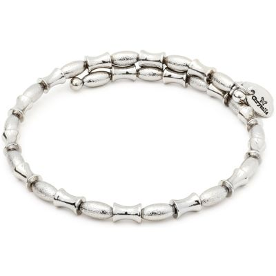 Ladies Chrysalis Silver Plated Gaia Air Wrap Bangle CRBW0010SP