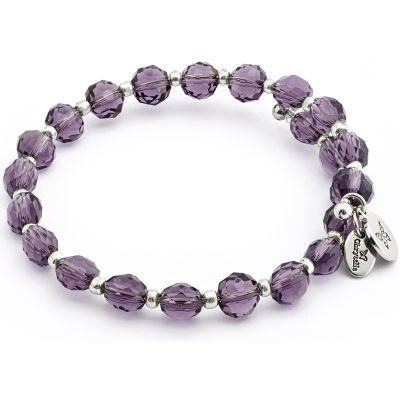 Ladies Chrysalis Silver Plated Happiness Gaia Rainbow Purple Wrap Bangle CRBW0018SPAM