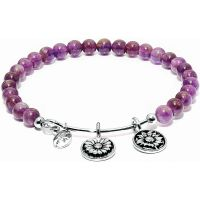 Ladies Chrysalis Silver Plated Happiness Guardian Amethyst Believe Bangle CRBH0003AM