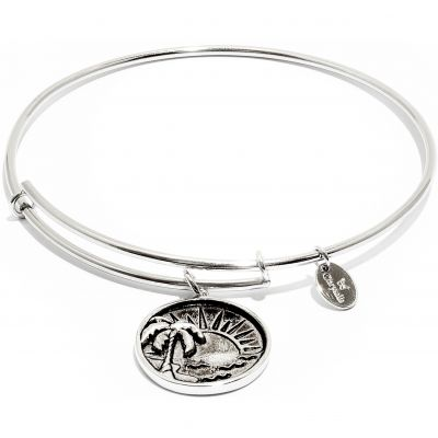 Ladies Chrysalis Silver Plated Happiness Oceania Sun Expandable Bangle CRBT0610SP