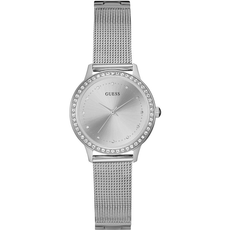 GUESS Ladies silver mesh bracelet watch