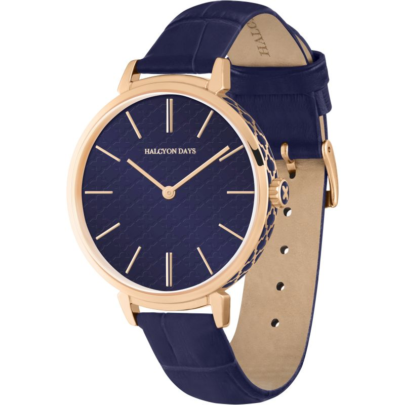 Agama Sport Navy & Rose Gold Watch