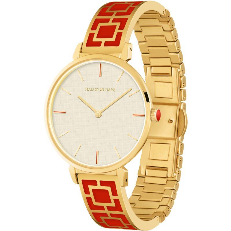 Maya Red & Gold Bangle Watch