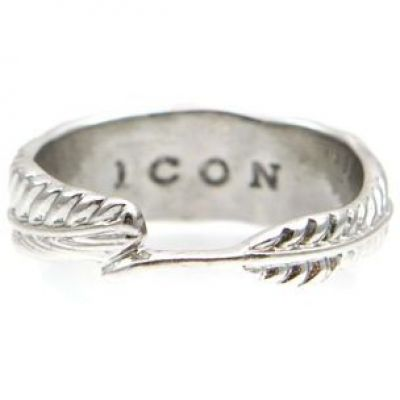 Ladies Icon Brand Base metal Hartland Ring Size M P1177-R-SIL-MED