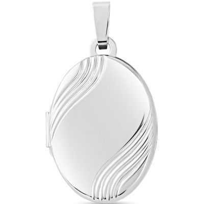 Jewellery Locket 9K Witgoud