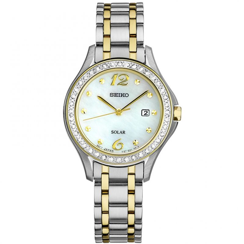 Image of            Ladies Seiko Dress Solar Powered Watch