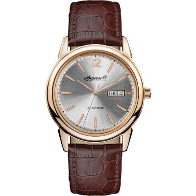 Ingersoll 1892 The New Haven Herrenuhr in Braun I00503
