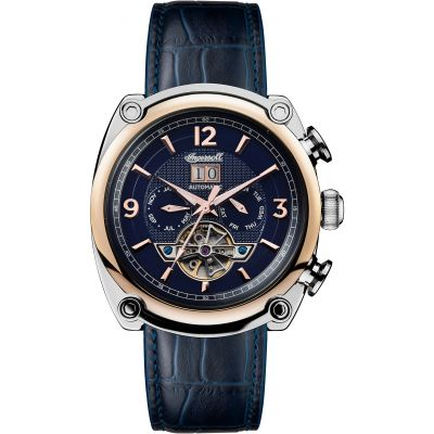 Ingersoll 1892 The Michigan Multifunction Herrenuhr in Blau I01101