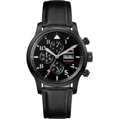 Ingersoll Discovery The Hatton Multifunction Herrenuhr in Schwarz I01402