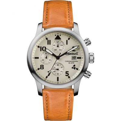 Ingersoll Discovery The Hatton Multifunction Herrenuhr in Braun I01501