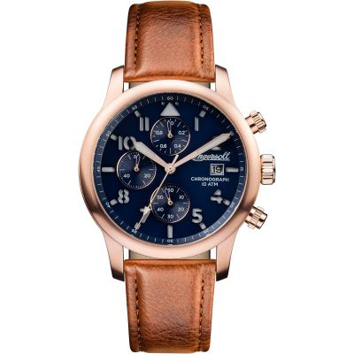 Ingersoll Discovery The Hatton Multifunction Herrenuhr in Braun I01502