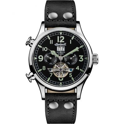 Ingersoll Discovery The Armstrong Multifunction Herrenuhr in Schwarz I02102