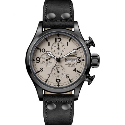 Ingersoll The Armstrong Multifunction Herrenuhr in Schwarz I02202