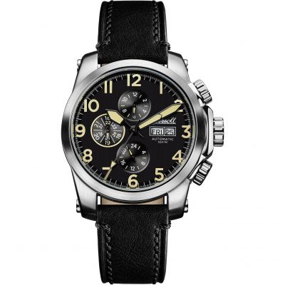 Ingersoll Discovery The Manning Multifunction Herrenuhr in Schwarz I03101