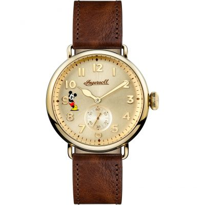 Ingersoll The Trenton Disney Limited Edition Herenhorloge Bruin ID01201