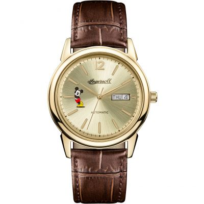 Ingersoll The New Haven Disney Limited Edition Herenhorloge Bruin ID00202