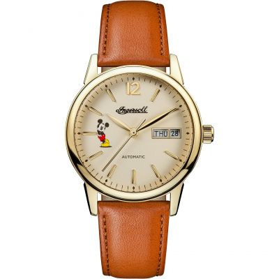 Ingersoll Union The New Haven Disney Limited Edition Damenuhr in Braun ID01101