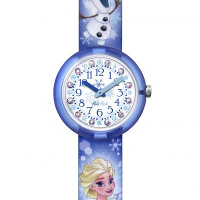Childrens Flik Flak Disney Frozen Elsa & Olaf Watch FLNP023