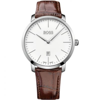 Mens Hugo Boss Swiss Made Slim Watch 1513255