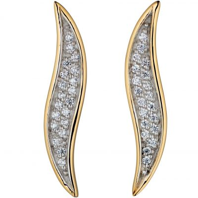 Biżuteria damska Fiorelli Jewellery Wave Stud Earrings E5195C