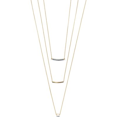 Ladies Fiorelli Gold Plated Layered Bead Necklace N3970