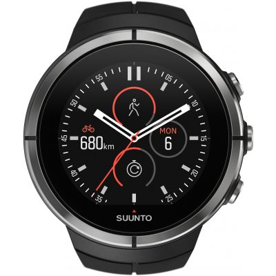 Unisex Suunto Spartan Ultra Ultra Black HR Bluetooth Alarm Watch SS022658000
