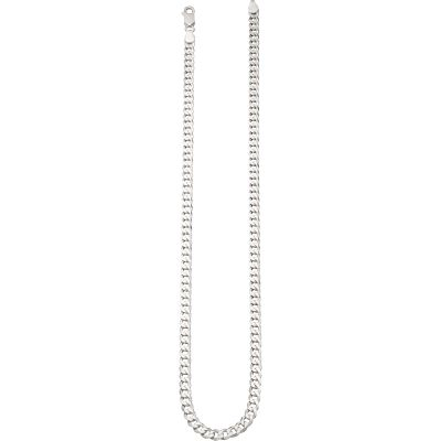Damen Beginnings Curb 50cm Halskette Sterling-Silber N3838