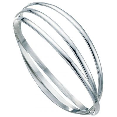 Ladies Beginnings Sterling Silver Russian Wedding Bangle B189
