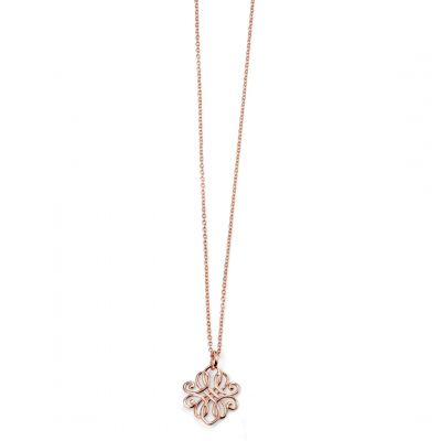 Ladies Elements Sterling Silver Filigree Necklace N3743