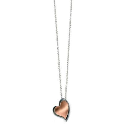 Damen Elements Layered Heart Anhänger Sterling-Silber P4361