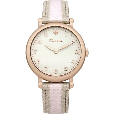 Ladies House Of Florrie Violet Stripe Watch HF002TRG